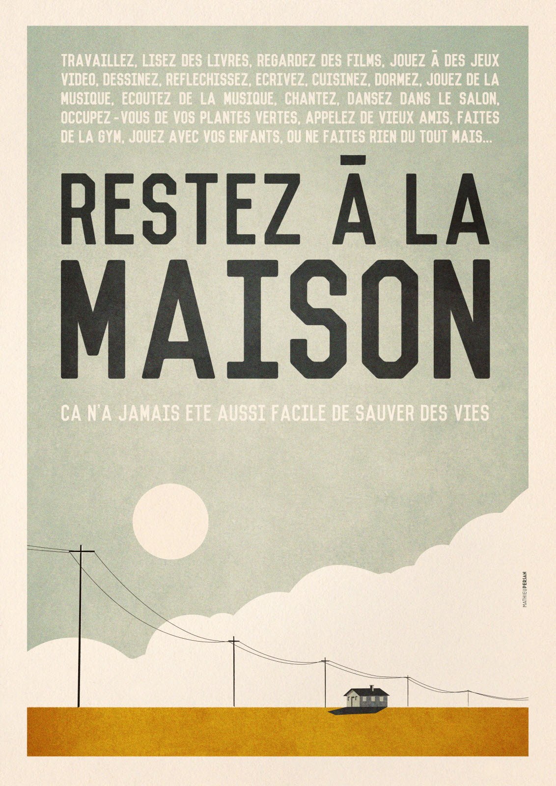 affiche confinement